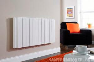 В комнате установлен новый радиатор отопления